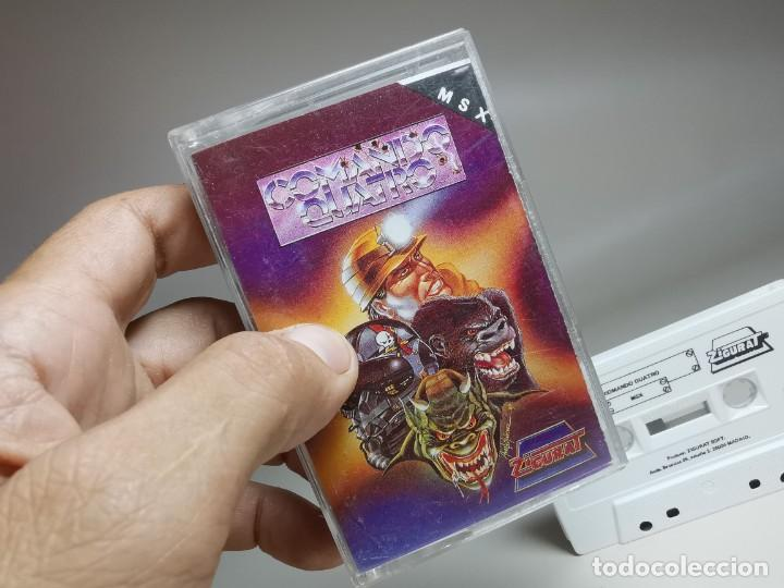 Videojuegos y Consolas: JUEGO ORIGINAL MSX-MSX2 ---COMANDO QUATRO - Foto 4 - 282209148