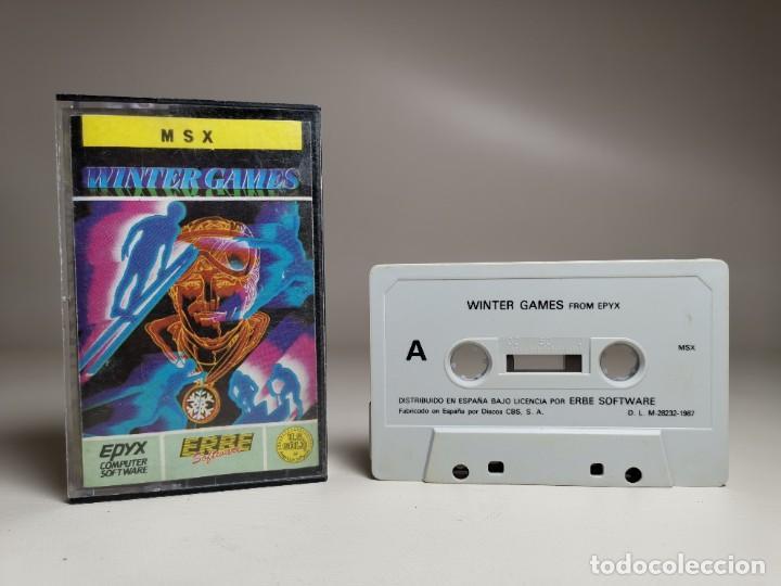 Videojuegos y Consolas: JUEGO ORIGINAL MSX-MSX2 ---WINTER GAMES - Foto 2 - 282209573