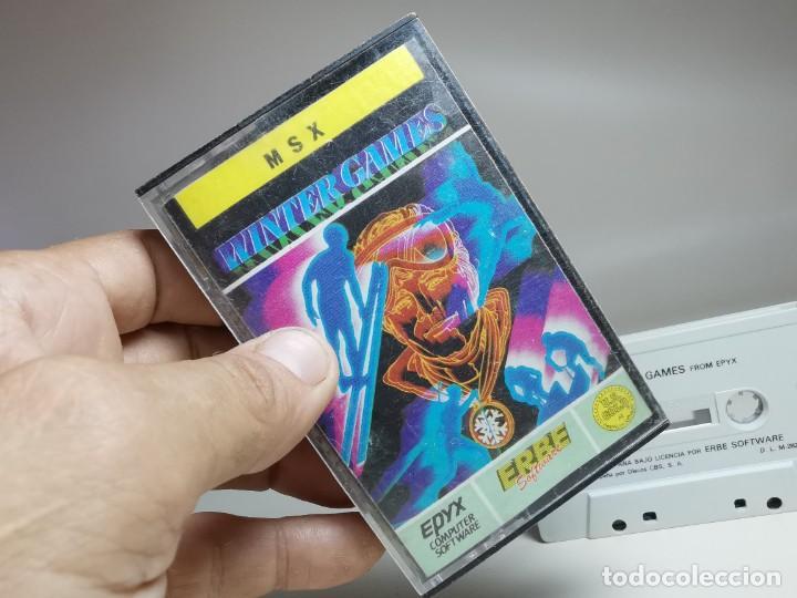 Videojuegos y Consolas: JUEGO ORIGINAL MSX-MSX2 ---WINTER GAMES - Foto 3 - 282209573