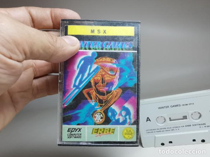 Videojuegos y Consolas: JUEGO ORIGINAL MSX-MSX2 ---WINTER GAMES - Foto 9 - 282209573