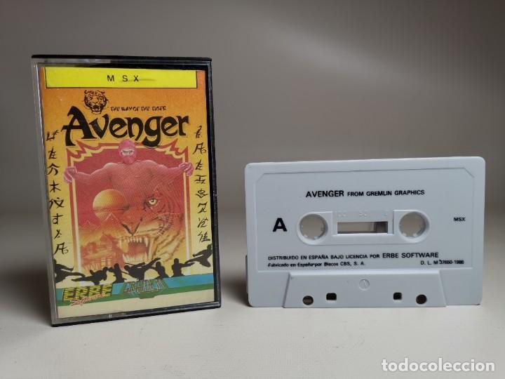 Videojuegos y Consolas: JUEGO ORIGINAL MSX-MSX2 ---AVENGER - Foto 2 - 282209753