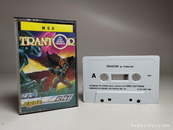 JUEGO ORIGINAL MSX-MSX2 ---TRANTOR (Juguetes - Videojuegos y Consolas - Msx)