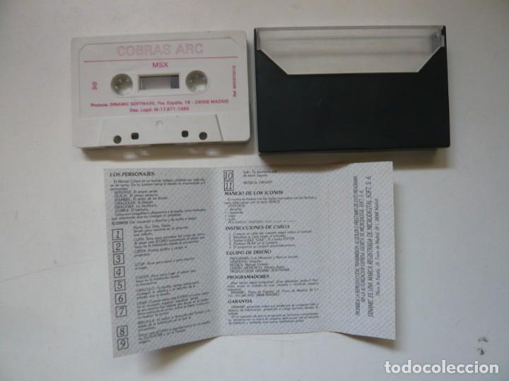 Videojuegos y Consolas: Cobras ARC de Dinamic / MSX / Retro Vintage / Cassette - Cinta - Foto 3 - 284764638