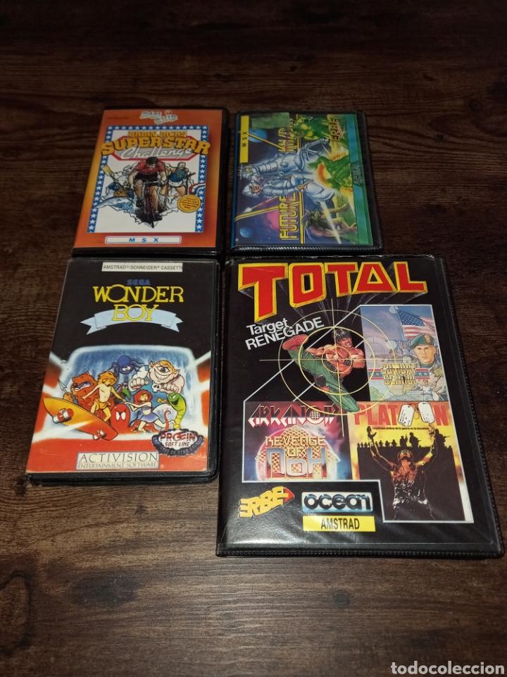 LOTE DE JUEGOS DE MSX Y AMSTRAD *WONDER BOY FUTURE KNIGHT TOTAL TARGET RENEGADE SUPERSTAR CHALLENGE* (Juguetes - Videojuegos y Consolas - Msx)