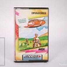 Videogiochi e Consoli: VIDEOJUEGO RETRO CASETE MSX - INVASORES - ACCIÓN - CASSETTE. Lote 286427438