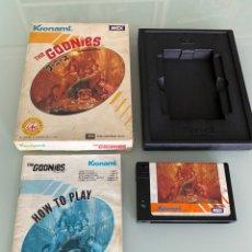 Videojuegos y Consolas: MSX - THE GOONIES (KONAMI) - VERSIÓN EURO - COMPLETO. Lote 267604609