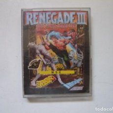 Videojuegos y Consolas: RENEGADE III / MSX / RETRO VINTAGE / CASSETTE. Lote 288377383