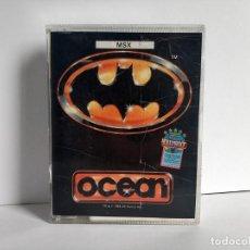 Videojuegos y Consolas: JUEGOS PARA SONY MSX BATMAN EL JUEGO DEL AÑO CASSETTE Y CARATULA ORIGINAL GRANDE DE OCEAN AÑOS 80. Lote 290521923