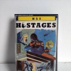Videojuegos y Consolas: ANTIGUO JUEGO PARA MSX EN CASSETE - HOSTAGES - ERBE. Lote 290523728