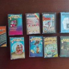 Videojuegos y Consolas: GRAN LOTE DE 9 VIDEOJUEGOS ORIGINALES CASSETTE / CASETE - MSX - CON SUS FUNDAS. Lote 292512668