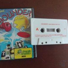 Videojuegos y Consolas: CASSETTE / CASETE VIDEOJUEGO MSX - BOUNDER - CBS / ERBE SOFTWARE. Lote 293425018