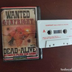Videojuegos y Consolas: CASSETTE / CASETE VIDEOJUEGO MSX - WANTED GUNFRIGHT DEAD OR ALIVE - CBS / ASHBY COMPUTERS & GRAPHICS. Lote 293426428