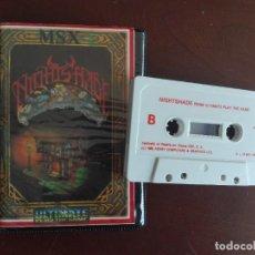 Videojuegos y Consolas: CASSETTE / CASETE VIDEOJUEGO MSX - NIGHTSHADE - CBS / ASHBY COMPUTERS & GRAPHICS. Lote 293426883