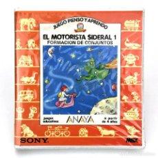 Videojuegos y Consolas: EL MOTORISTA SIDERAL 1 JUEGO, PIENSO Y APRENDO ESTUCHE EDICIONES ANAYA SONY JUEGO RETRO MSX CASSETTE. Lote 293960913