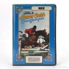 Videojuegos y Consolas: SHOWJUMPER HARVEY SMITH ESTUCHE ERBE ESPAÑA SANYO SOFTWARE PROJECTS HIPICA SHOW JUMPER MSX CASSETTE. Lote 293961273