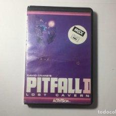 Videojuegos y Consolas: JUEGO MSX PITFALL II LOST CAVERN - DAVID CARNE'S. Lote 294156253