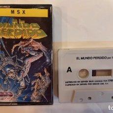Videojuegos y Consolas: EL MUNDO PERDIDO. ANTIGUO JUEGO CASSETTE MSX. Lote 294940518