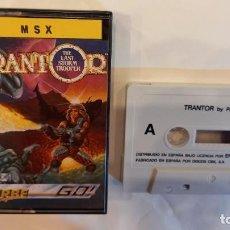 Videojuegos y Consolas: TRANTOR. ANTIGUO JUEGO CASSETTE MSX. Lote 294941308