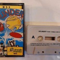 Videojuegos y Consolas: BOUNDER. ANTIGUO JUEGO CASSETTE MSX. Lote 294941418