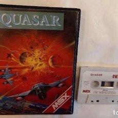 Videojuegos y Consolas: QUASAR. ANTIGUO JUEGO CASSETTE MSX. Lote 294941833