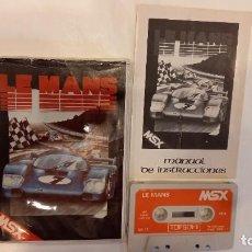 Videojuegos y Consolas: LE MANS. ANTIGUO JUEGO CASSETTE MSX. Lote 294941943