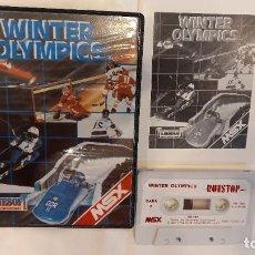 Videojuegos y Consolas: WINTER OLYMPICS. ANTIGUO JUEGO CASSETTE MSX. Lote 294942063