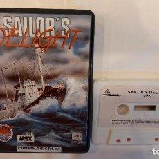 Videojuegos y Consolas: SAILOR´S DELIGHT. ANTIGUO JUEGO CASSETTE MSX. Lote 294942558