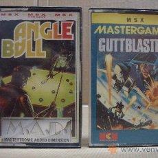 Videojuegos y Consolas: 2 VIDEOJUEGOS CASETE MSX ANGLE BALL - GUTTBLASTER 1988-1988. Lote 24469877