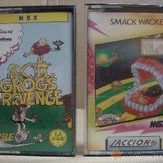 Videojuegos y Consolas: 2 VIDEOJUEGOS CASETE MSX GORO´S REVENGE - SMACK WACKER 1986. Lote 24469873