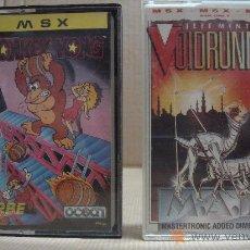 Videojogos e Consolas: 2 VIDEO JUEGOS CASETE MSX - DONKEY KONG - VOIDRUNNER 1987-??. Lote 24469904
