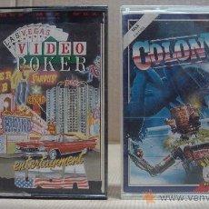 Videojuegos y Consolas: 2 VIDEO JUEGOS CASETTE MSX VIDEO POKER - COLONY . Lote 24469858