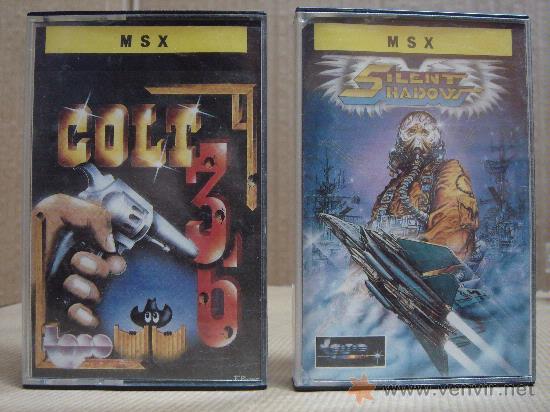 2 VIDEO JUEGOS CASETTE MSX COLT 36 - SILENT SHADOW 1987 1988 (Juguetes - Videojuegos y Consolas - Msx)