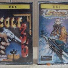 Videojuegos y Consolas: 2 VIDEO JUEGOS CASETTE MSX COLT 36 - SILENT SHADOW 1987 1988. Lote 24469763
