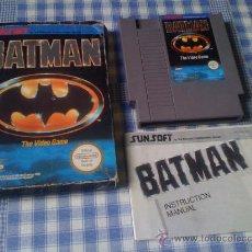 Videojuegos y Consolas: BATMAN JUEGO PARA LA NINTENDO NES PAL COMPLETO. Lote 28166628