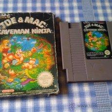 Videojuegos y Consolas: JOE & MAC CAVEMAN NINJA PARA NINTENDO NES PAL VERSIÓN ESPAÑOLA CON CAJA. Lote 28948909