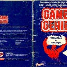 Videojuegos y Consolas: GAME GENIE - POTENCIADOR DE VIDEO JUEGOS NINTENDO FAMOSA - MANUAL DE CODIGOS LIBRO. Lote 29882210