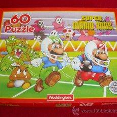 Videojogos e Consolas: PUZZLE SUPER MARIO BROS 60 PIEZAS NUEVO A ESTRENAR. OFICIAL NINTENDO. AÑOS 80. Lote 30533923