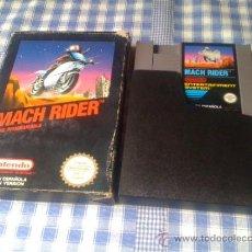 Videojuegos y Consolas: MACH RIDER JUEGO DE MAD MAX PARA NINTENDO NES PAL CON CAJA VERSIÓN ESPAÑOLA. Lote 32115021