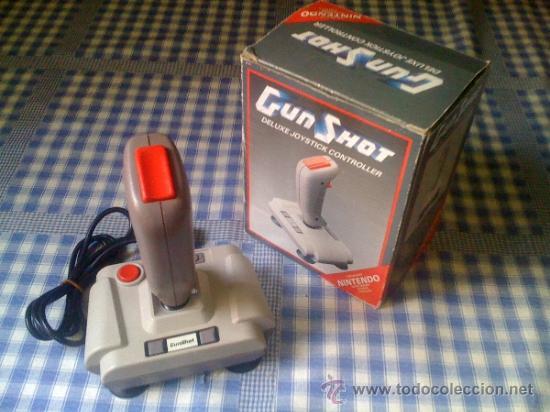 GUN SHOT GUNSHOT ACCESORIO MANDO JOYSTICK PARA CONSOLA NINTENDO NES AVIONES Y NAVES CON CAJA (Juguetes - Videojuegos y Consolas - Nintendo - Nes)