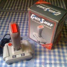 Videojuegos y Consolas: GUN SHOT GUNSHOT ACCESORIO MANDO JOYSTICK PARA CONSOLA NINTENDO NES AVIONES Y NAVES CON CAJA. Lote 32918497