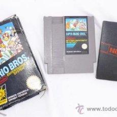 Videojuegos y Consolas: JUEGO ANTIGUO CONSOLA NINTENDO NES MARIO BROS EN CAJA . Lote 37100319