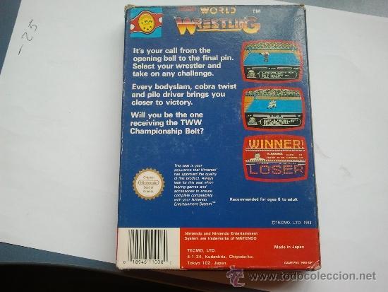 Videojuegos y Consolas: juego nintendo nes world wrestling nintendo nes - Foto 2 - 37637417