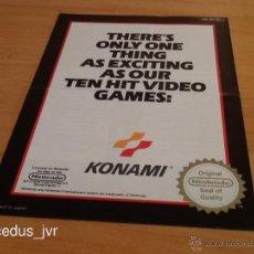 Videojuegos y Consolas: CATÁLOGO DE JUEGOS KONAMI PARA NINTENDO NES EN. Lote 39481801