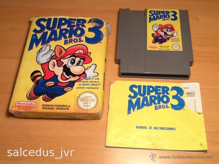 SUPER MARIO BROS 3 III JUEGO PARA NINTENDO NES PAL COMPLETO VERSIÓN ESPAÑOLA (Juguetes - Videojuegos y Consolas - Nintendo - Nes)