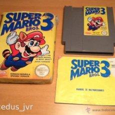 Videojuegos y Consolas: SUPER MARIO BROS 3 III JUEGO PARA NINTENDO NES PAL COMPLETO VERSIÓN ESPAÑOLA. Lote 43062320