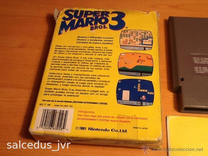 Videojuegos y Consolas: Super Mario Bros 3 III juego para Nintendo NES PAL Completo Versión Española - Foto 2 - 43062320