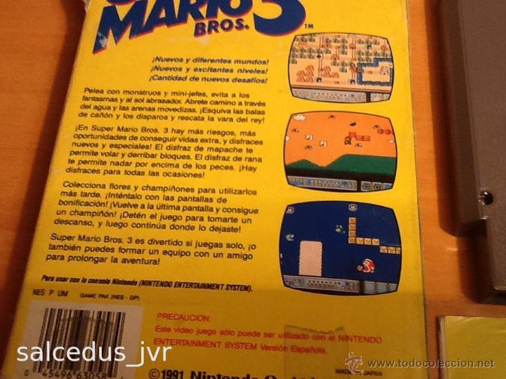 Videojuegos y Consolas: Super Mario Bros 3 III juego para Nintendo NES PAL Completo Versión Española - Foto 3 - 43062320