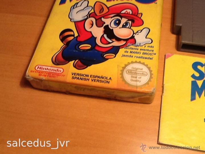 Videojuegos y Consolas: Super Mario Bros 3 III juego para Nintendo NES PAL Completo Versión Española - Foto 7 - 43062320