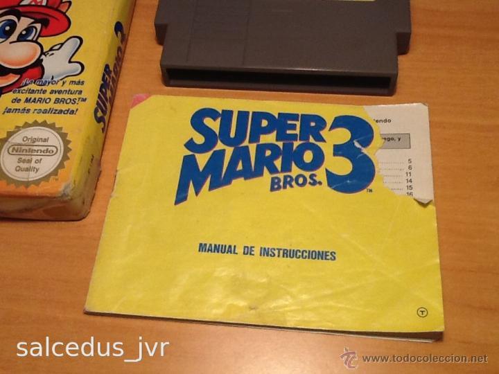 Videojuegos y Consolas: Super Mario Bros 3 III juego para Nintendo NES PAL Completo Versión Española - Foto 8 - 43062320