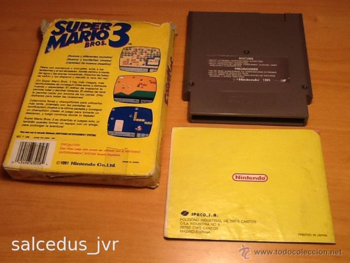 Videojuegos y Consolas: Super Mario Bros 3 III juego para Nintendo NES PAL Completo Versión Española - Foto 9 - 43062320